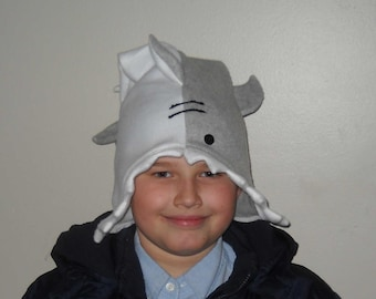 SHARK FLEECE HAT that eats your head