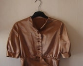 25% OFF Stunning 1940s Dusty Pink Silky Blouse Size Small Medium
