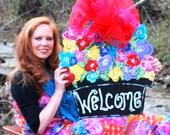Door Hanger, Summer Door Decoration, Mothers Day Gift, Welcome Home Sign