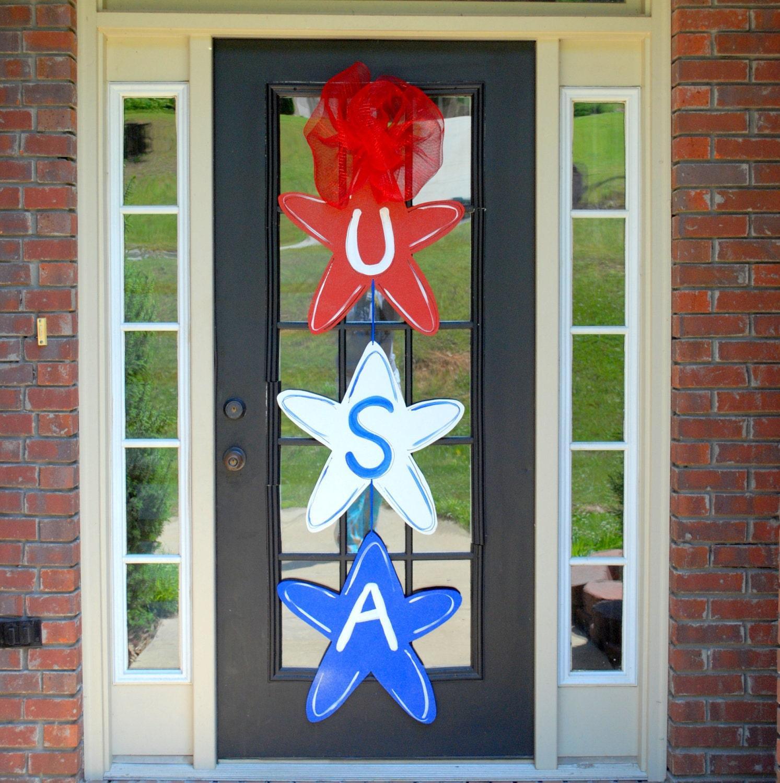 Door Hanger: Patriotic Decor 4th of July Summer Door