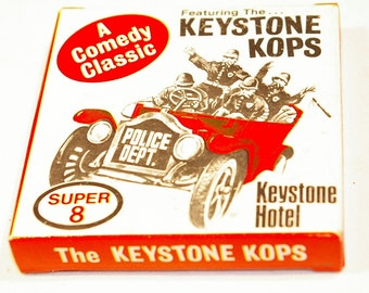 "Keystone Kops ""Keystone Hotel"" Super 8 Silent Movie Sealed in the package 1980s"