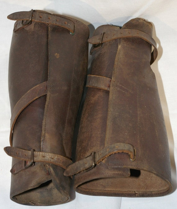 Pre World War One Heavy Leather Puttees U S Cavalry