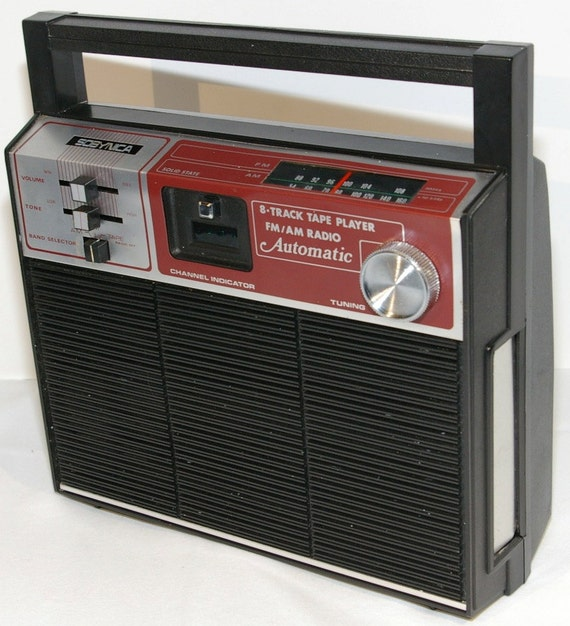 1980s Portable 8 Track Player And Am Fm Radio By Sobynica In