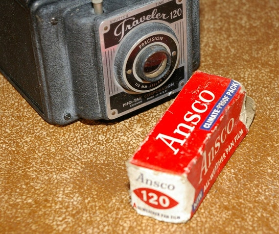 New and Sealed Ansco 120 unexposed roll of film. Dated January 1959.