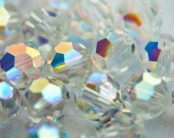 60 Vintage Swarovski Crystal Clear AB 5000 6mm