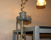 Old Meat Grinder Table Lamp