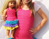 Twin triple ruffle dresses for you and your American Girl Doll