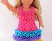 Triple ruffle dresses for  American Girl Dolls