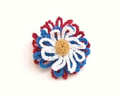 July 4th Red White and Blue Hair Clip for Girls or Dolls