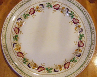 """1930's Enoch and Ralph Woods Antique Platter or Charger Brier Pattern 12"""" In Diameter"""