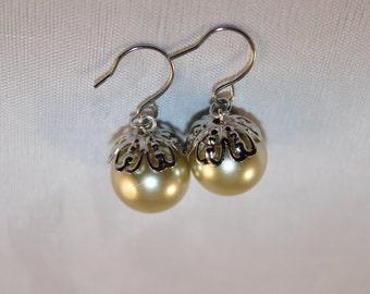 Ivory Pearl Dandle Earrings