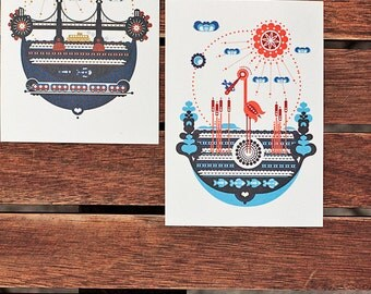 Postcards 2.0 - different illustrations