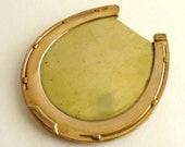 Large Bronze and Gold Horseshoe Clip
