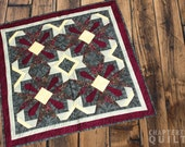 Burgundy and Grey Table Mat