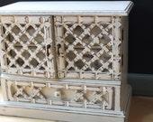 White Vintage Jewelry Box
