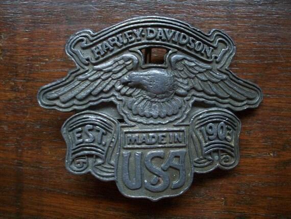 Vintage Harley Davidson Eagle Belt Buckle
