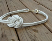 Skinny Rope Nautical Knot Belt with Anchor Clasp