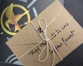 Hunger Games Quote Graduation Card, acid free paper & envelope - Choice of 2