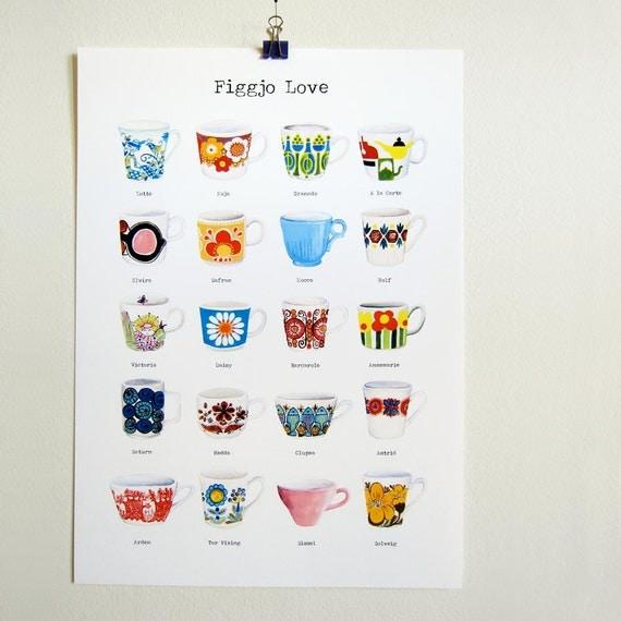Figgjo Love - print A3 size