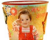 Personalized Children's Play Bucket - (Made from photo you send)