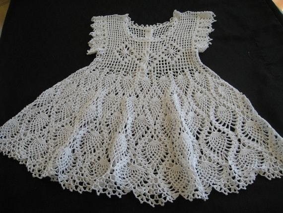 White Crochet Baby Blanket