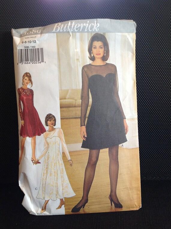 Vintage Sewing Pattern Dress, FREE SHIPPING