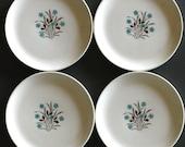 Mid Century Plates Bread Dessert by French Saxon China Shabby Chic Star Flower