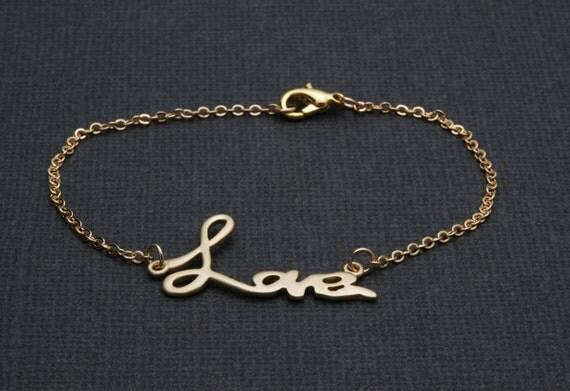 """Elegant - Gold Love Bracelets Charms - """"Forever Love 1"""""""