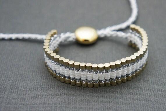 Link Friendship Bracelet - White (Gold) - (One Direction)