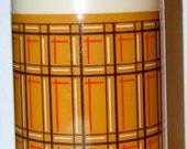 Plaid retro thermos