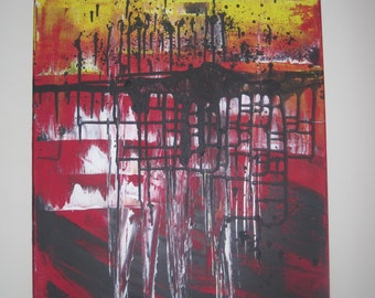 Untitled 16x20 original abstract painting