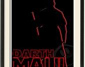 Star Wars Print - Darth Maul Outline 8x10
