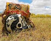 WOODSTOCK - Purse Pack, backpack -- Vintage, hand batik, Boho, one of a kind -- Custom Order