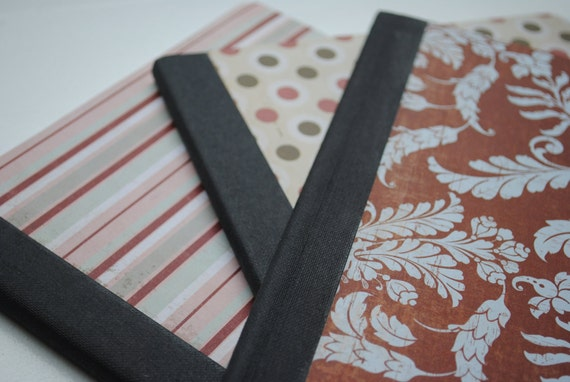 Red, Pinks, and Browns Full Sized Altered Composition Notebook Set of 3