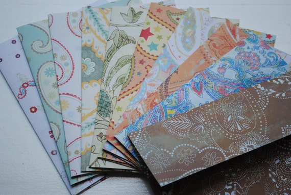 Colorful Paisley Set of 10 Handmade Envelopes by Paper Hearts Station on Etsy