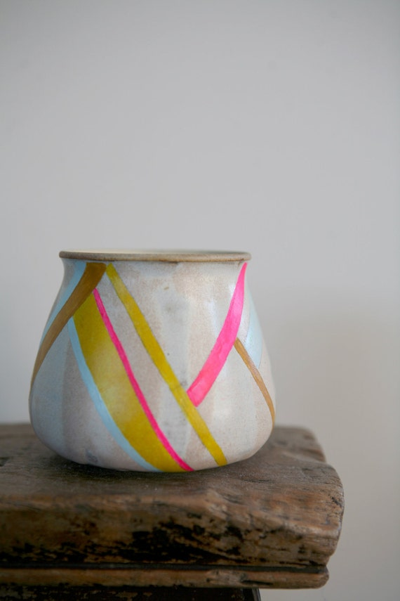 Hand Painted Up-Cycled Vase