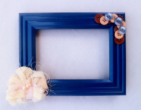 Navy Blue Embellished Picture Frame