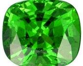 Tsavorite Green Garnet 7.4 x 6.6 MM Cushion Shape Loose Gemstones 1.80 Carat