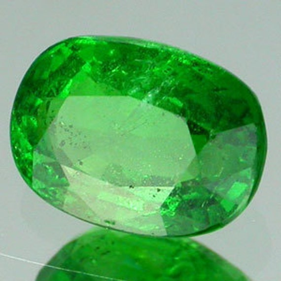 Tsavorite Green Garnet 10.0 x 6.5 MM Cushion Shape Loose Gemstones 2.75 Carat
