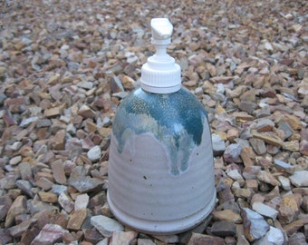 Ceramic Soap Pump,  Hand Lotion Pump with Hand Painted Array of Colors