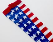 4th of July American Flag Baby Leg Warmers - Red, White, and Blue Patriotic Leggings - Baby Legs