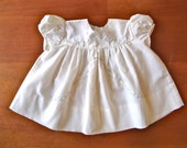 SALE Vintage Hand Embroidered Puff Sleeve Dress (baby)