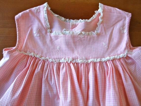 SALE Vintage Pink Gingham Sundress (baby)