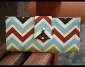 chevron wallet multicolor