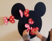 Pin the Bow on the Minnie Game - Minnie Mouse Inspired Game - with RED bows