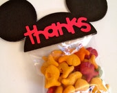 Set of 25 - Mickey Mouse Inspired Birthday Party Favor Ears - Thanks RED