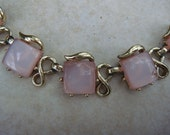 Vintage pink and gold necklace