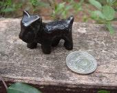 Vintage miniature black scottie dog