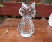 Art glass owl paper weight