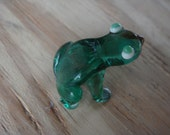 Miniature - tiny- green glass frog